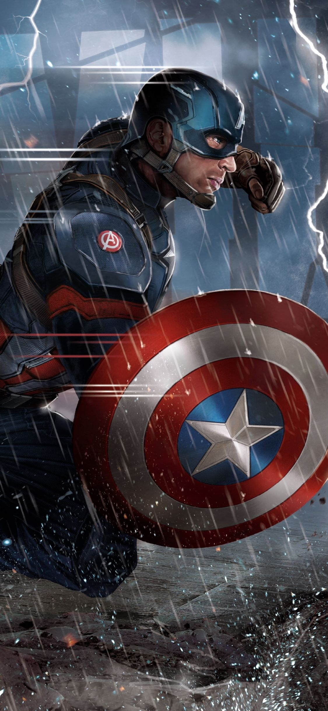 1125x2436 Captain America Phone Wallpaper - Shared by Reina | Scalsys