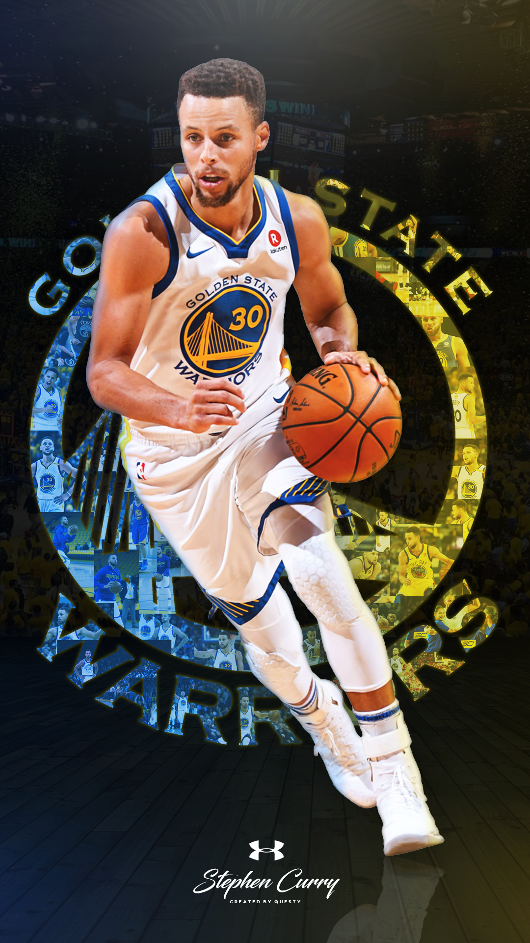 1080x1920 Stephen Curry Golden State Warriors Wallpaper. Created by @QuestyTv ...