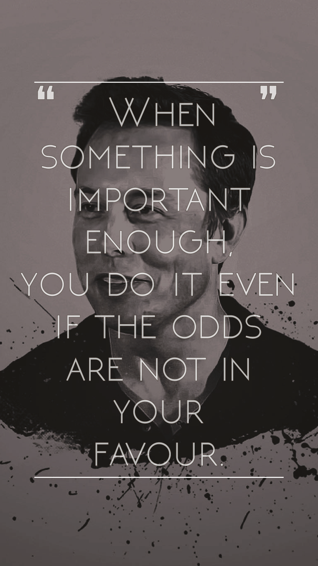 1080x1920 Whipped up an Elon Musk wallpaper with one of his famous quotes ...