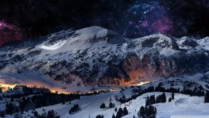 Desktop Wallpaper Snowy Night Scenes 55+